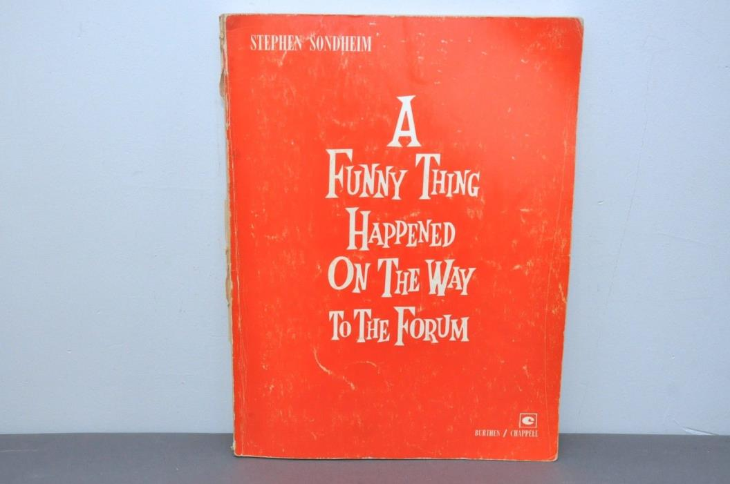 A FUNNY THING HAPPENED ON THE WAY TO THE FORUM (Vocal Score) Paperback – 1964