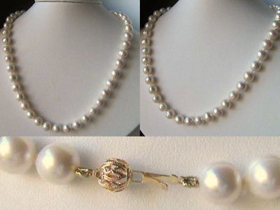 LOVELY! Creamy White Freshwater PEARL & 14K Gold 21