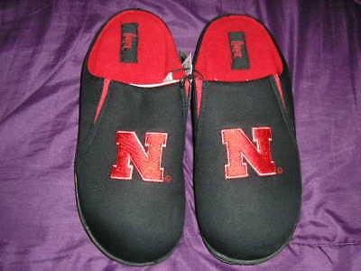 Nebraska Cornhuskers Mens Slip On Slippers Large