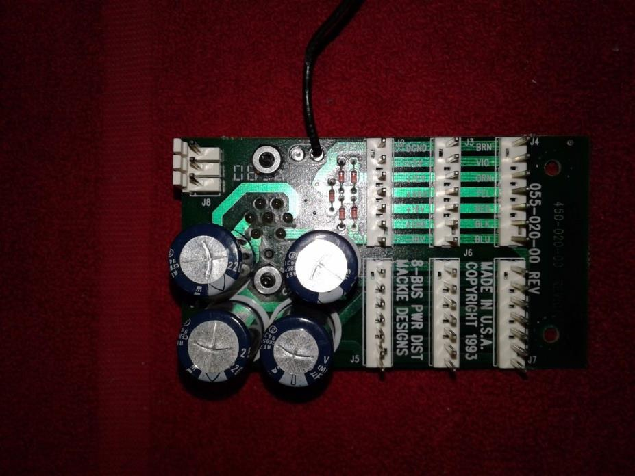 Mackie Power Distribution Board for 220w Power Supply Part #055-020-00 REV