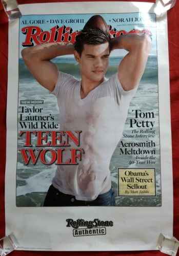 Taylor Lautner Rolling Stone Poster