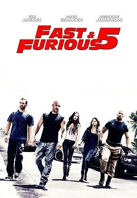 Fast Five movie poster (c) Vin Diesel, Paul Walker poster, Fast and the Furious