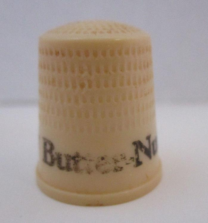 Thimble Butternut Coffee Advertising Worn 5/8 inches across opening Vintage