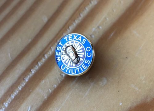 14k Yellow Gold West Texas Utilites 5 Year Service Pin 1.8 Grams