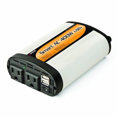 Wagan EL2003-5 SmartAC 400 Watt Continuous Power Inverter with 5V 2.1 Amp USB