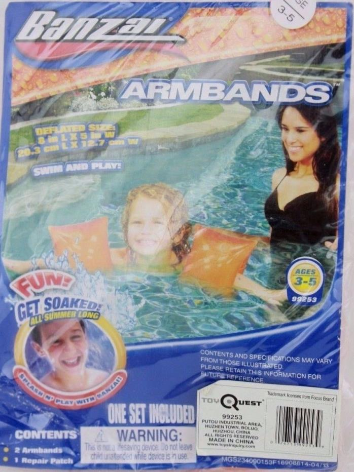 Banzai Orange Floaties Armbands Ages 3 5