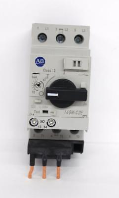Allen-Bradley 140M-C2E-C16 Motor Circuit Protector/Breaker w/ 140M-C-AFA10 Aux