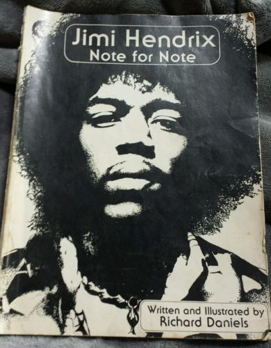 Jimi Hendrix Note for Note Guitar Tabulature Song Lyrics Illustrated 1980