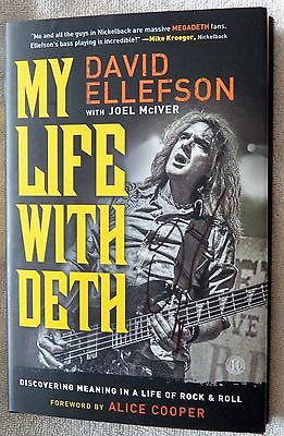 David Ellefson Signed My Life With Deth Hardcover Book Auto Megadeth