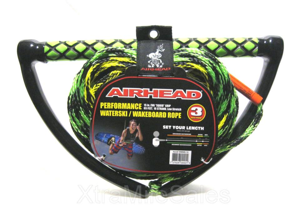 Airhead Performance 65' Waterski / Wakeboard 3 Section Rope 15