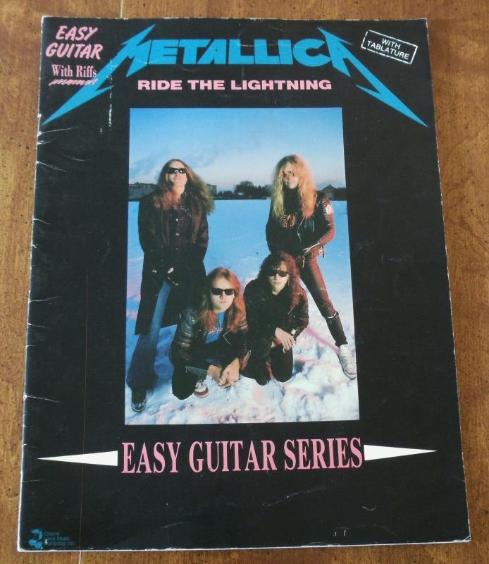 Metallica Ride the Lightning Easy Guitar w/ Riffs Book Tablature Lyrics Hammett