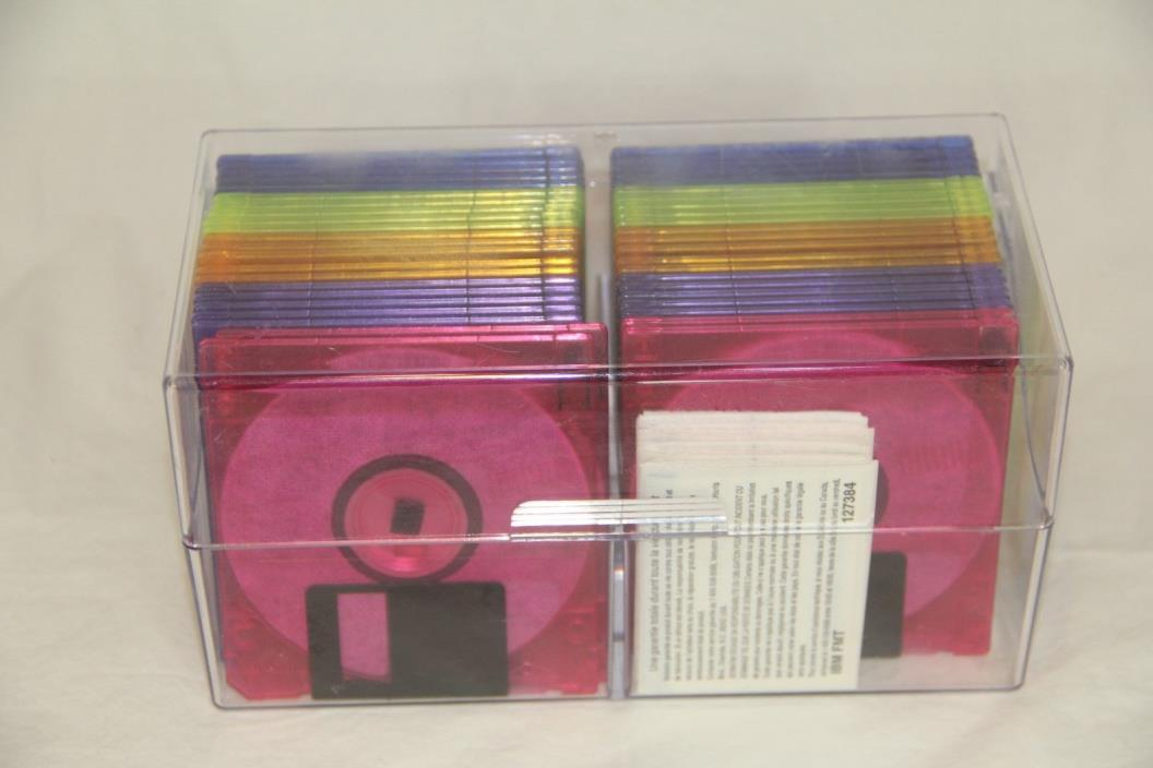 IMATION NEON DISKETTES 44 UNUSED DISKETTES 1.4 /1.44 MB 2HD IN OPEN BOX SEE!