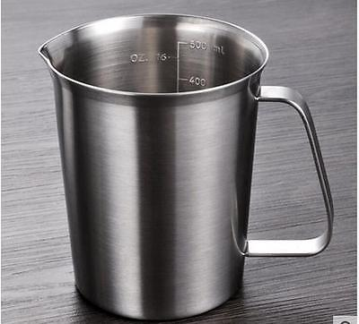 New 500 ml Stainless steel Graduated Measuring  Cup / Beaker