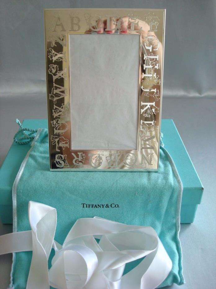 TIFFANY sterling silver ~ 'ABC BEARS' PICTURE FRAME BABY CHILD ~ ADORABLE!!