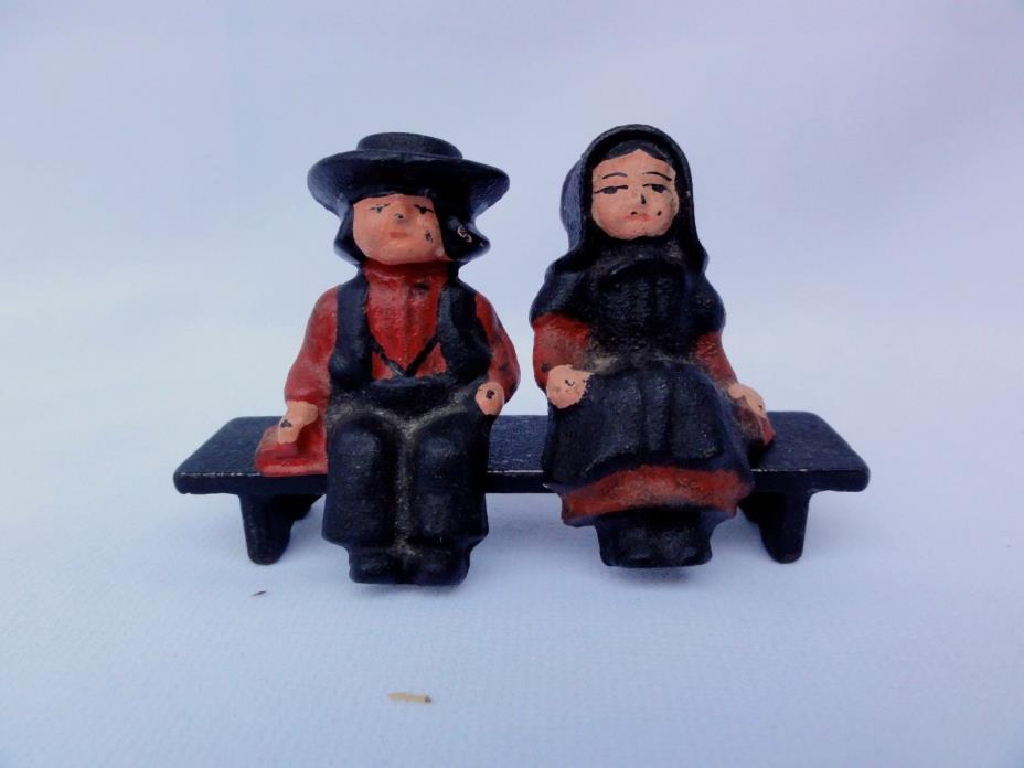 Amish Children On Bench  -  3 Pieces  -   Cast Iron