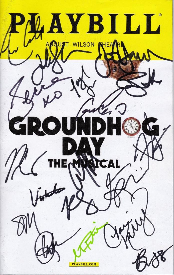 Andy Karl + Cast Signed GROUNDHOG DAY Broadway Playbill