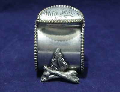 Antique Silver Plate Napkin Ring -