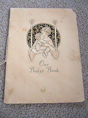 1925 BABY BOOK JOURNAL RECORD OF BABY Ad BOCKS BABY SHOP WV Osbourne Co. Antique