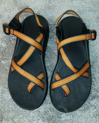 Men's 13 Chaco Vibram Walking Sandals - Orange