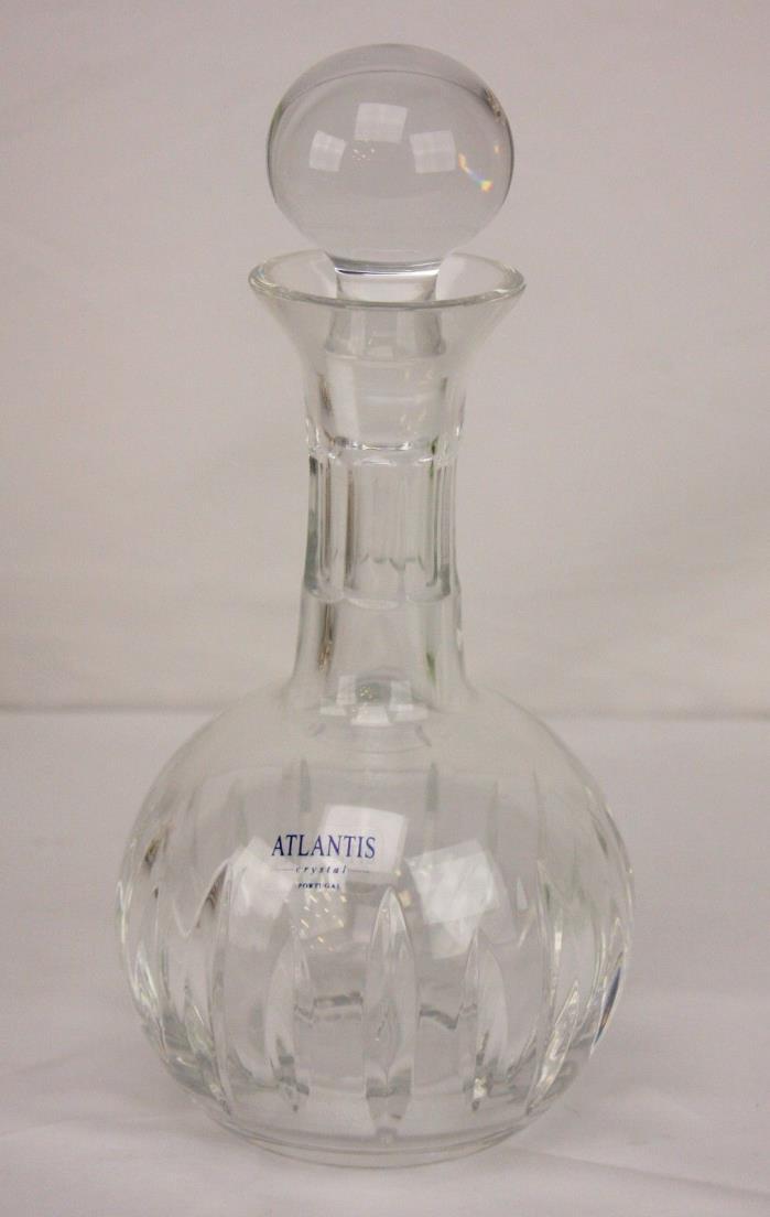 Atlantis Portugal Crystal Cordial Decanter in Alfredo (Vertical Cut) ~ 9 3/8