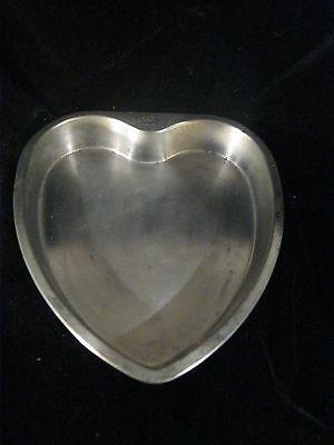 Vintage Bake King Crown Cake Pan heart Aluminum 9