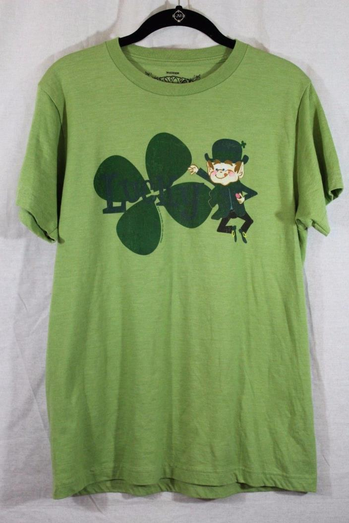 Savvy Lucky Charms T-Shirt  Leprechaun and Irish Clover St Patrick's Day Medium