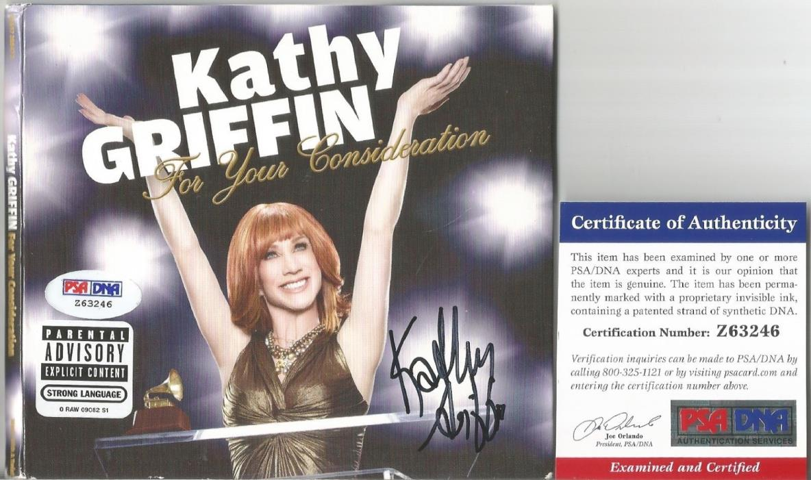 Kathy Griffin Signed CD Cover Photo Autographed COA PSA/DNA Certified Comedian