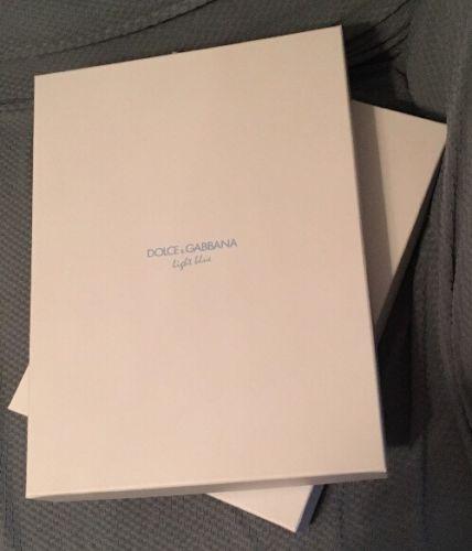 *LOT OF 2* Dolce & Gabanna Gift / Storage Boxes / Light Blue
