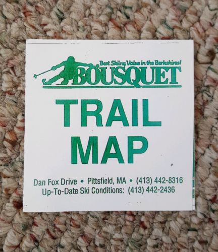 Bousquet 2016-2017 Trail Map SKI THE EAST Mountain MA Berkshires Okemo Mt Snow