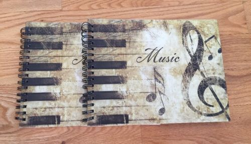 2 PICCADILLY BLANK MUSIC MANUSCRIPT  WRITING STAFF NOTEBOOKS  ~ 95 PAGES EACH