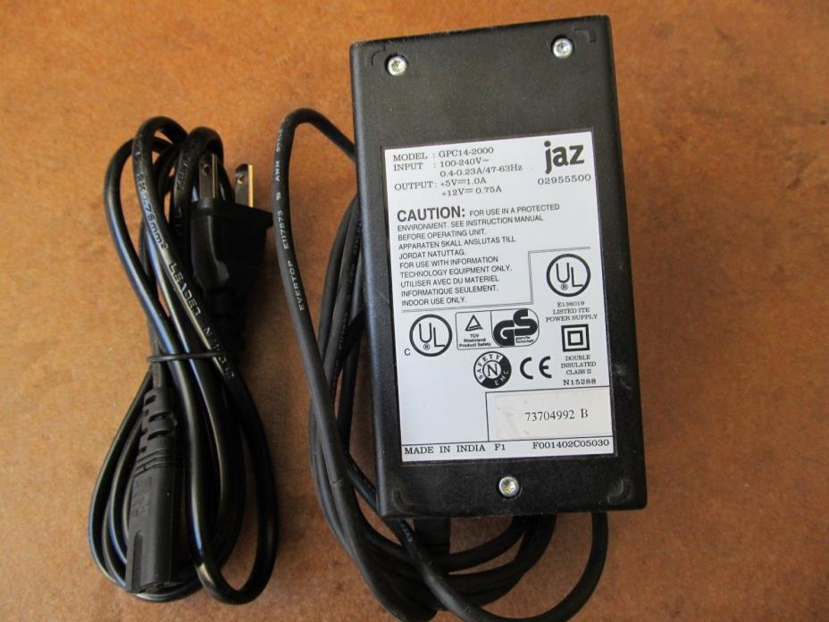 Iomega JAZ GPC14-2000 AC ADAPTER w/ AC Line Cord
