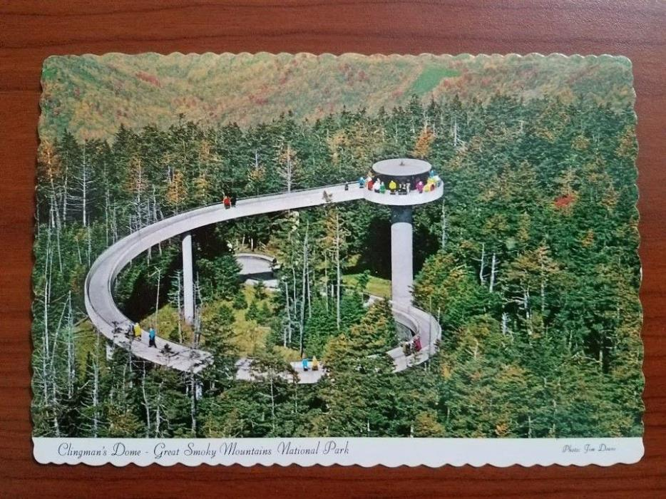 OLD VINTAGE CLINGMANS DOME GREAT SMOKY MOUNTAINS NATIONAL PARK POSTCARD