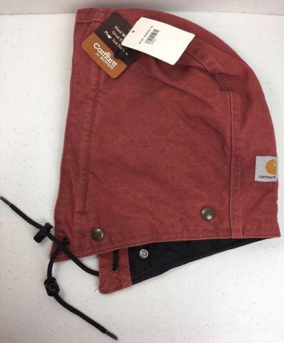 Carhartt Women's Hood Sandstone Quilt Lined A149 Button RED  NWT  (B25)