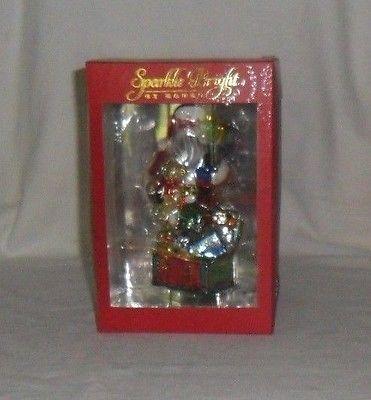 Radko Sparkle Bright Santa Claus With Presents Chest Toy Box Christmas Ornament