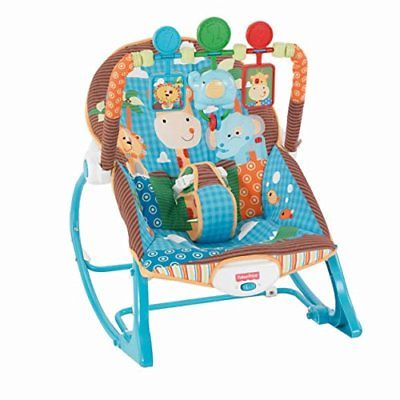 Fisher-Price Infant to Toddler Rocker Jungle Fun Bouncers Vibrating Chairs Baby