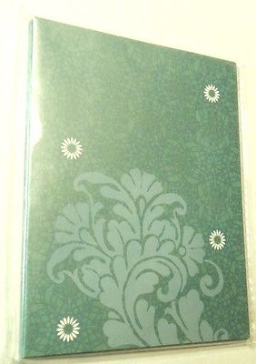 Note Cards Blank Crystal Palace Green Floral Envelopes White 6 ct. NIP Colorbok