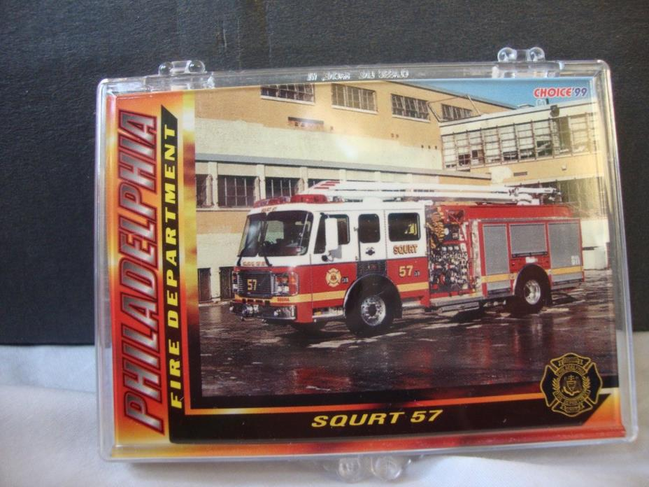 Set of 16 Fire Engine Collector Cards - Philadelphia Fire Department - 1999
