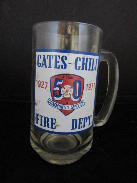 Gates Chili NY Fire Dept Commemerative Glass