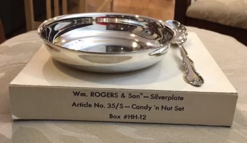 Wm. rogers and son Silverplate candy n nut set in original Box - No. 35/S #HH-12