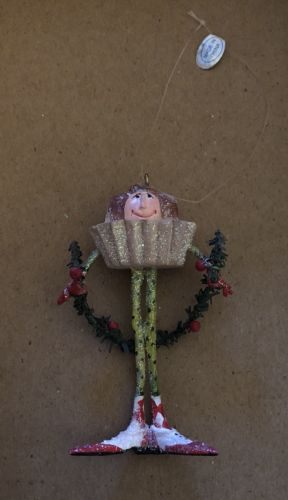EUC Department 56 Patience Brewster Krinkles Cupcake Boy Mini Ornament