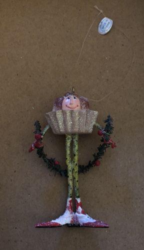 EUC Department 56 Patience Brewster Krinkles Cupcake Boy Mini Ornament