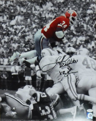 HERSCHEL WALKER AUTOGRAPHED/SIGNED GEORGIA BULLDOGS 16X20 PHOTO SEPHIA 19933 JSA