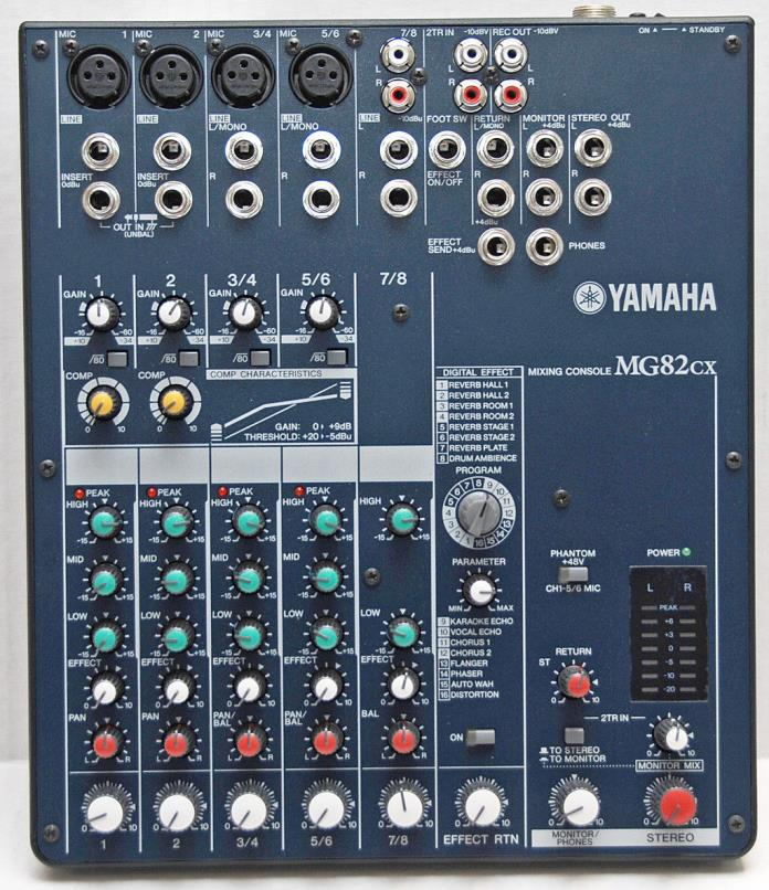Yamaha MG82CX Mixer, Behringer B212D, B210D Speakers Sound System DJ