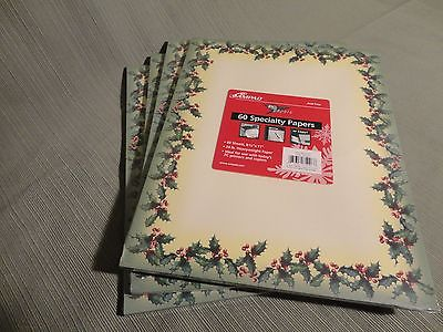 Christmas Computer Stationary Paper - Ampad  New/shrink wrap 4 pks - 240 sheets