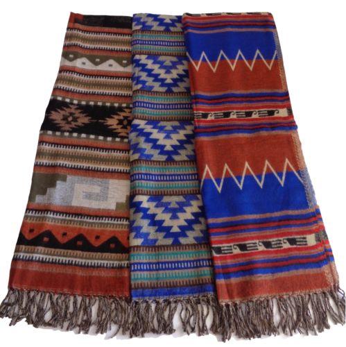 "Southwestern-Style Shawl/Wrap 27""x72"""