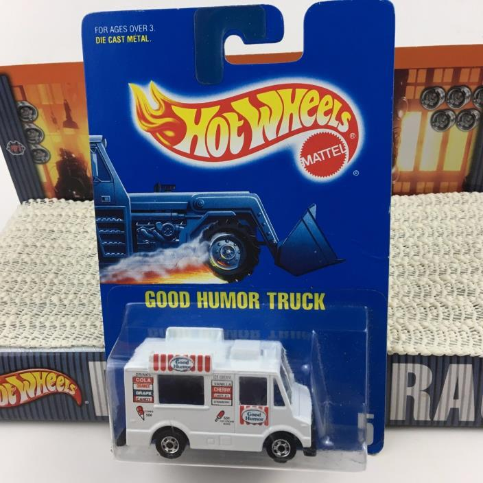 Hot Wheels 1991 GOOD HUMOR Ice Cream Truck #5 BW Tires NMC 5904