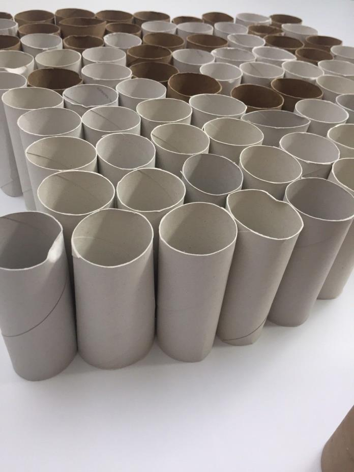 Empty Clean Toilet Paper Rolls 88 Total Cardboard Arts and Crafts Hobby