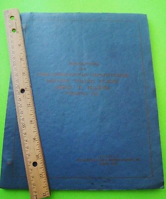 rare 1936 GOODYEAR TIRE WEAR REPORT Engr'g Dwgs REAL PHOTOS Illustr'd DATA 128-p