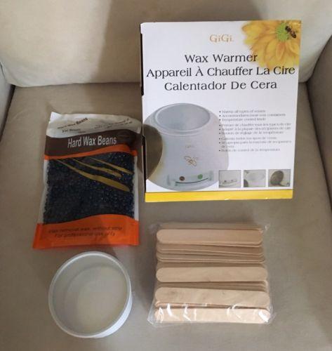 NIP Wax Kit - Gigi Wax Warmer, Storage Canister, Hard Wax Beads, Applicators