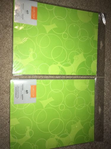 Lot 2 Gartner Stationery Sheets Lime Circles 8 1/2
